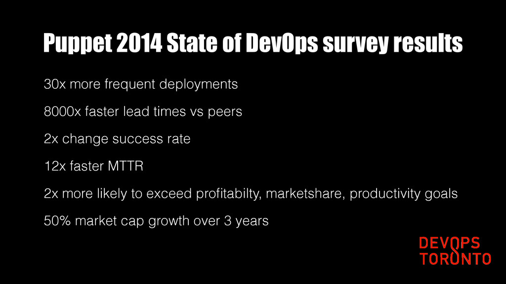 Puppet 2014 State of DevOps survey results 30x ...
