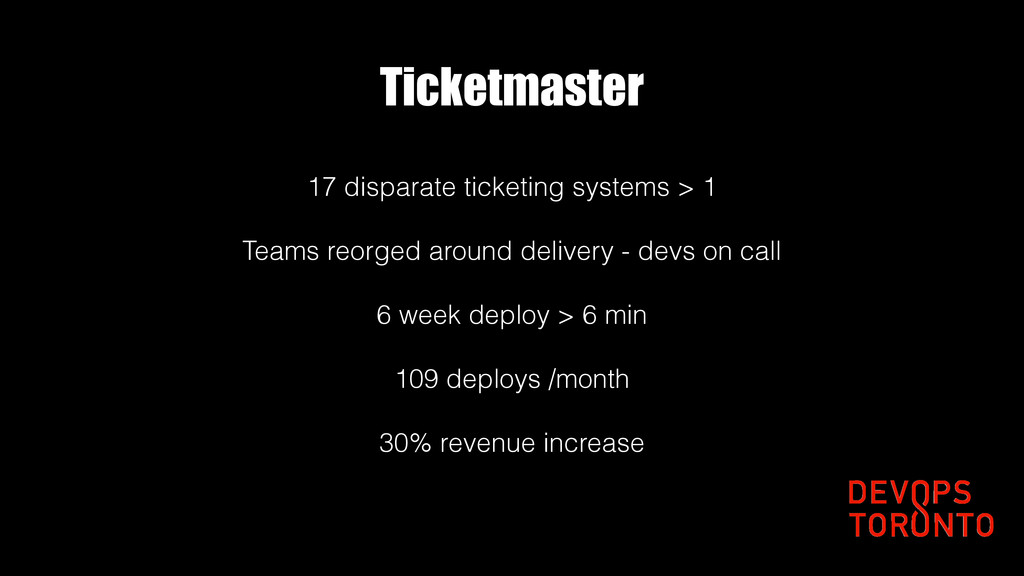 Ticketmaster 17 disparate ticketing systems > 1...