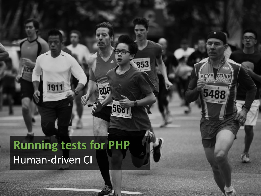 Running tests for PHP Human-driven CI