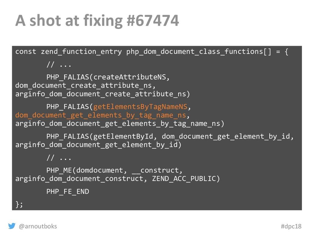@arnoutboks #dpc18 A shot at fixing #67474 cons...