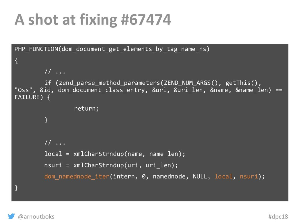 @arnoutboks #dpc18 A shot at fixing #67474 PHP_...