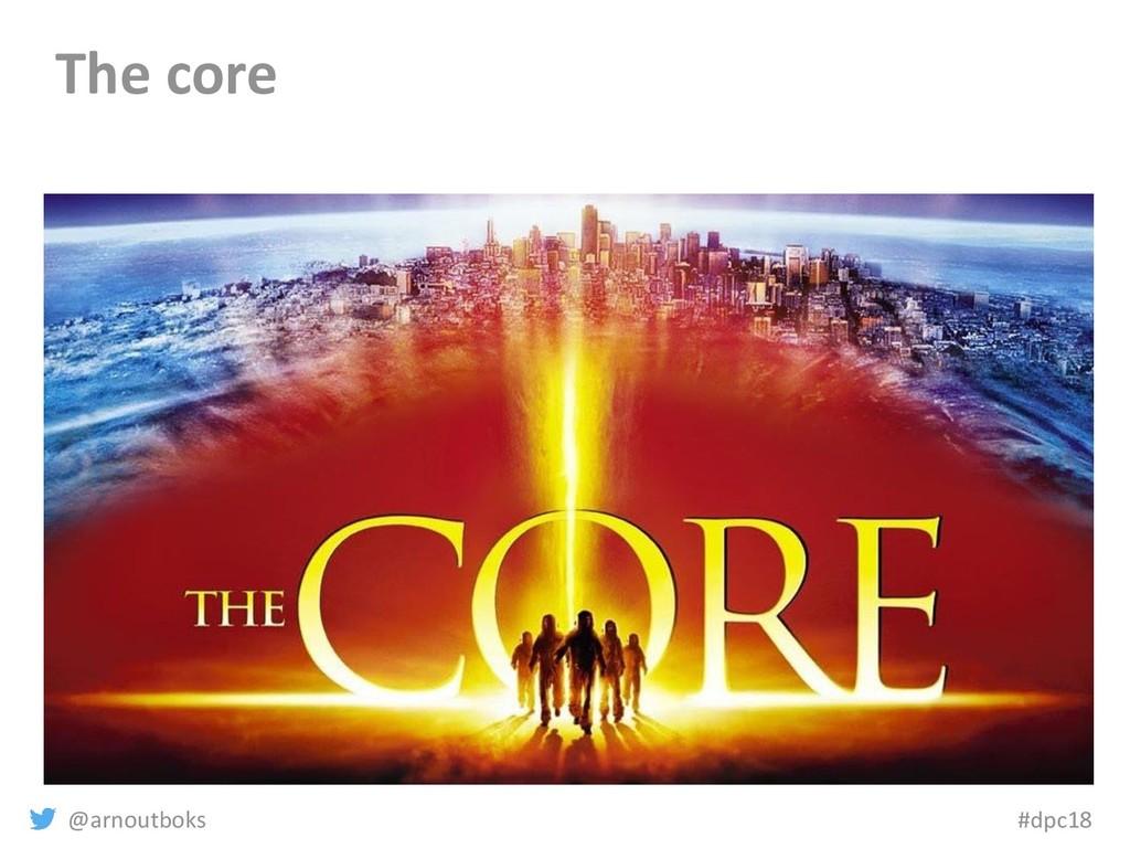 @arnoutboks #dpc18 The core