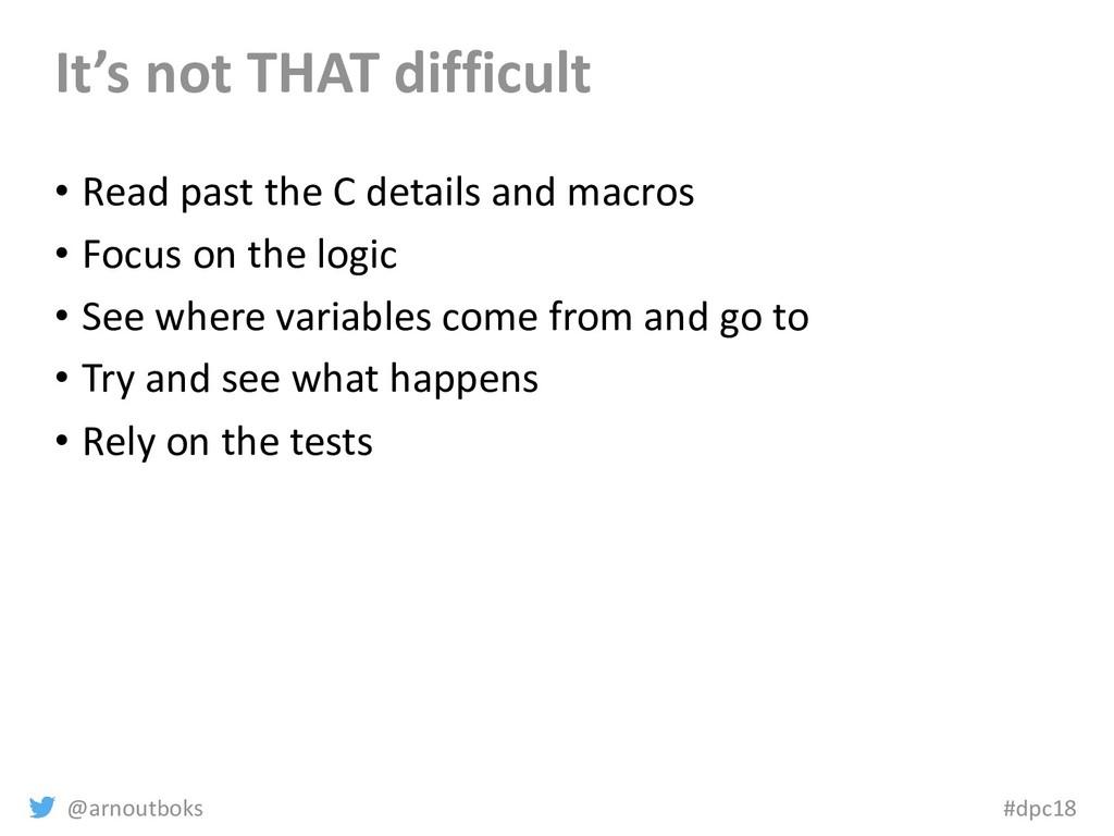 @arnoutboks #dpc18 It's not THAT difficult • Re...