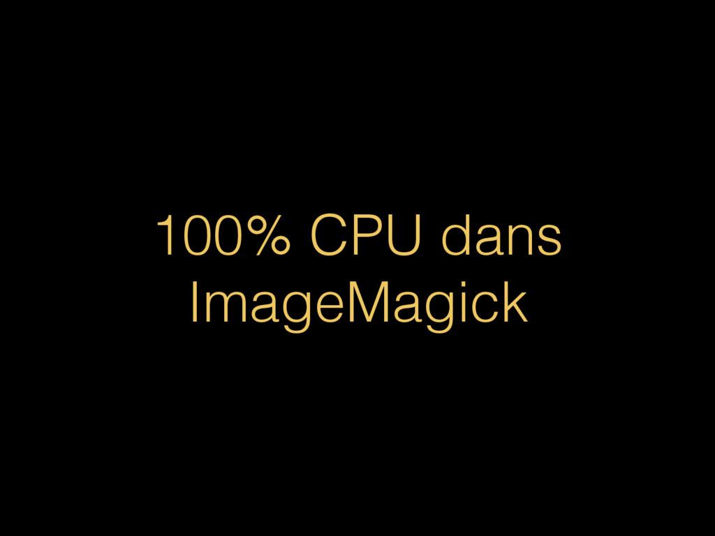 100% CPU dans ImageMagick
