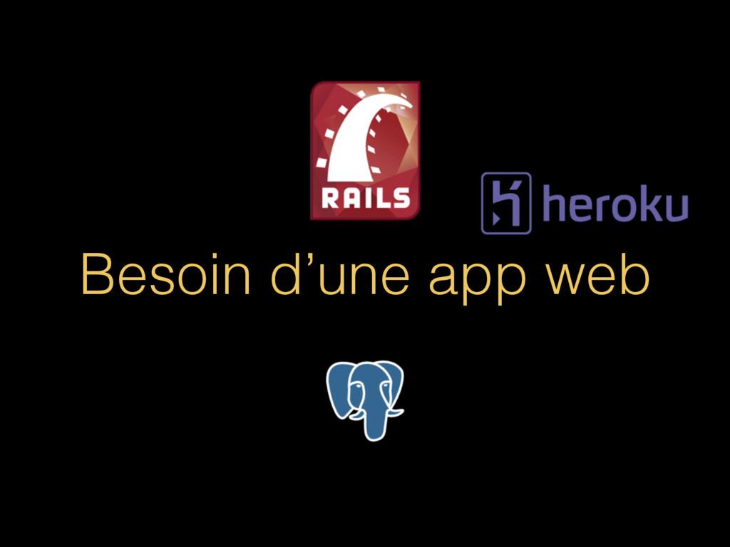 Besoin d'une app web