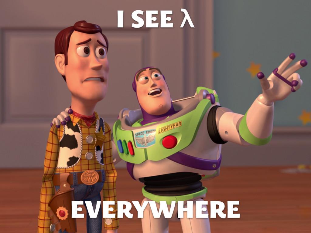 I SEE λ EVERYWHERE