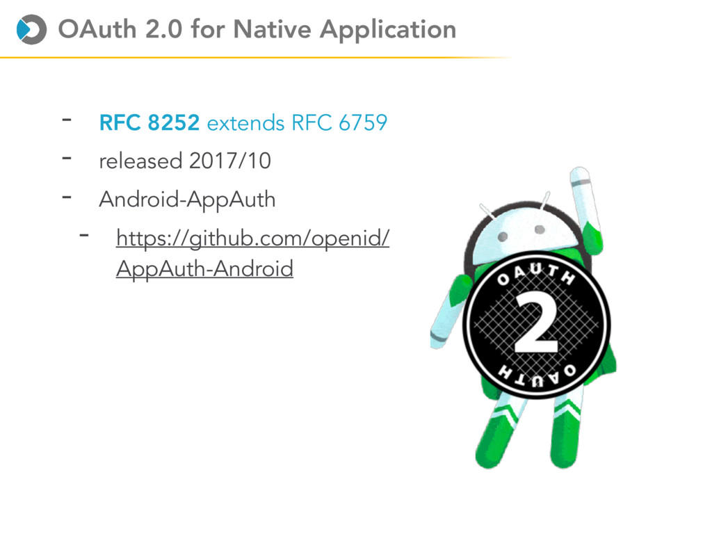 OAuth 2.0 for Native Application - RFC 8252 ext...
