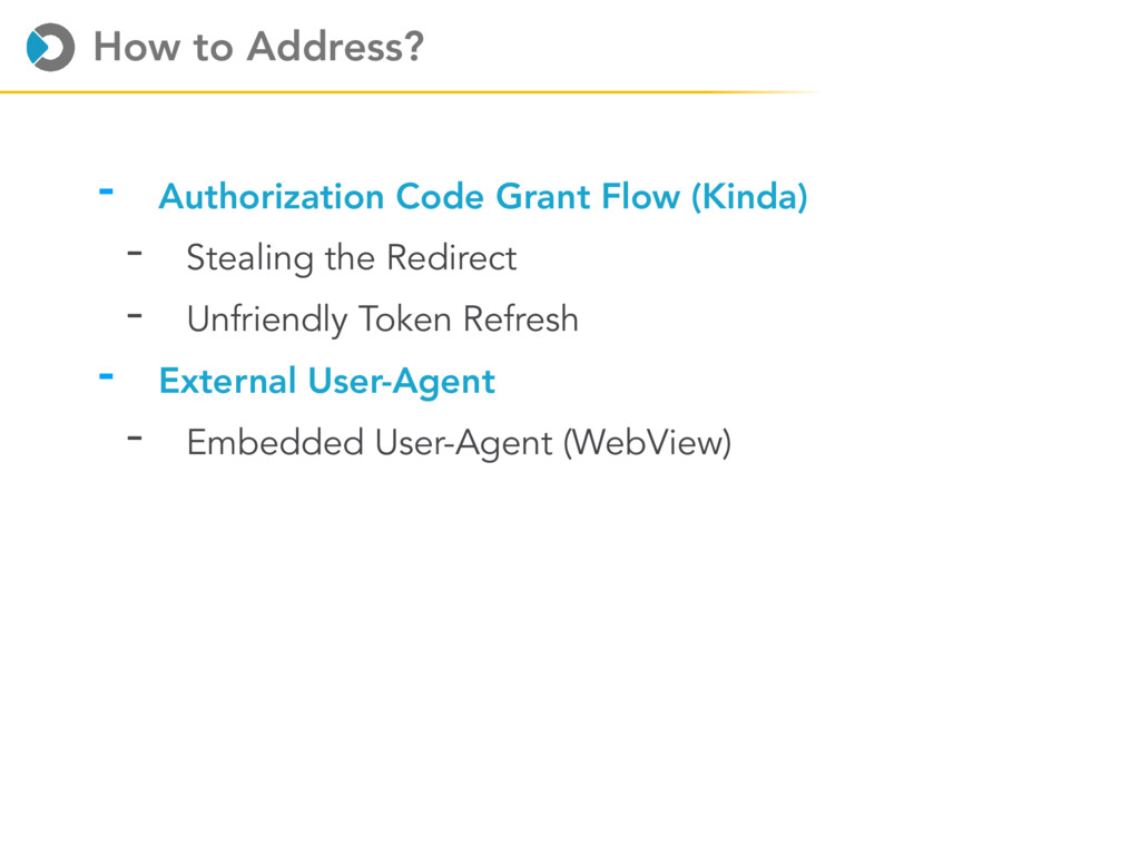 How to Address? - Authorization Code Grant Flow...