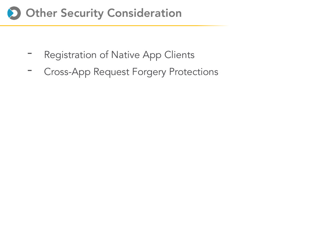 Other Security Consideration - Registration of ...