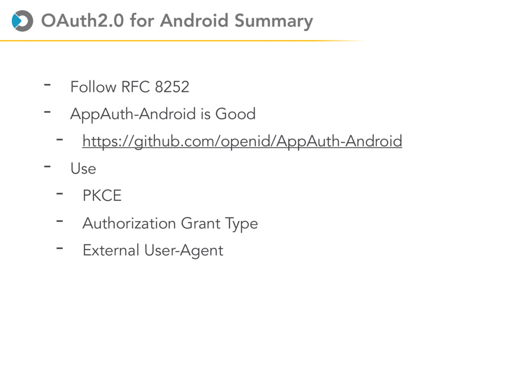 OAuth2.0 for Android Summary - Follow RFC 8252 ...