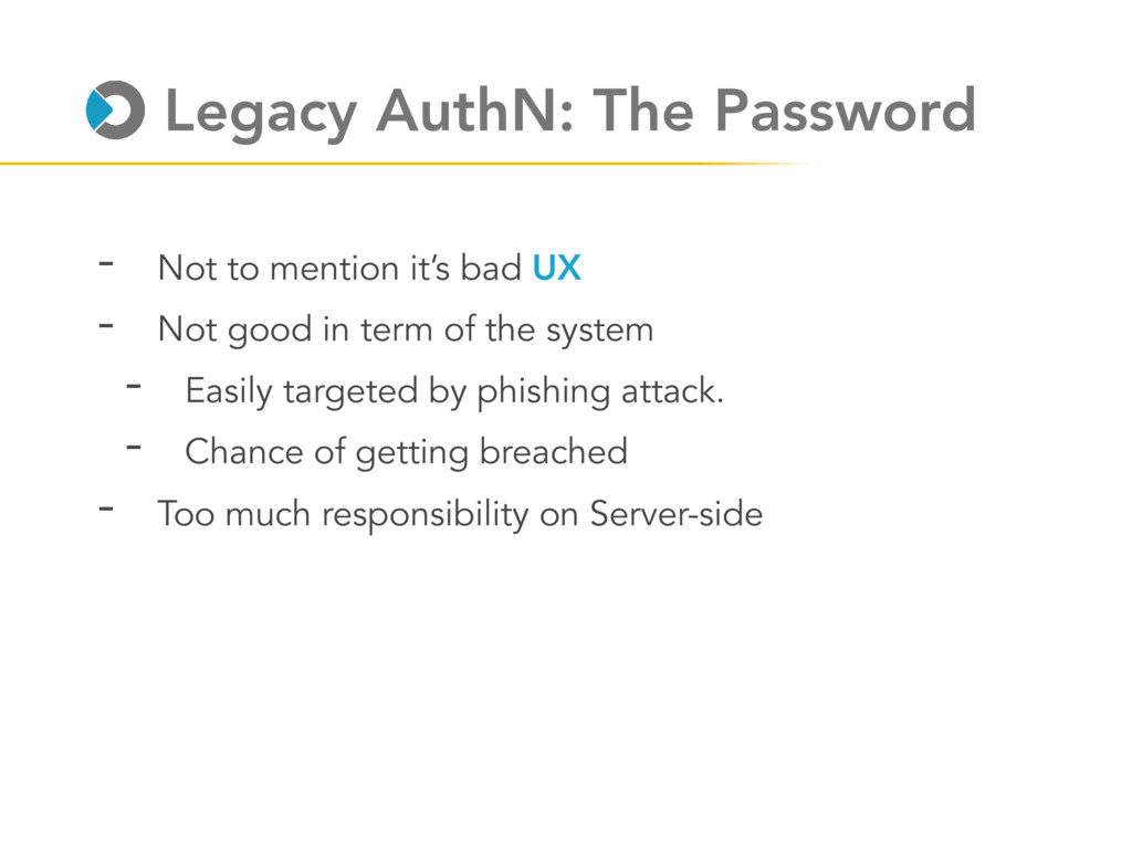 Legacy AuthN: The Password - Not to mention it'...