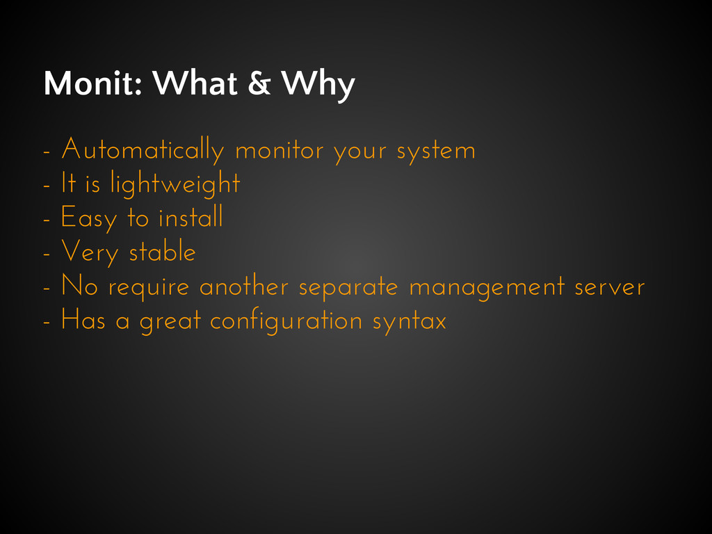 Monit: What & Why - Automatically monitor your ...