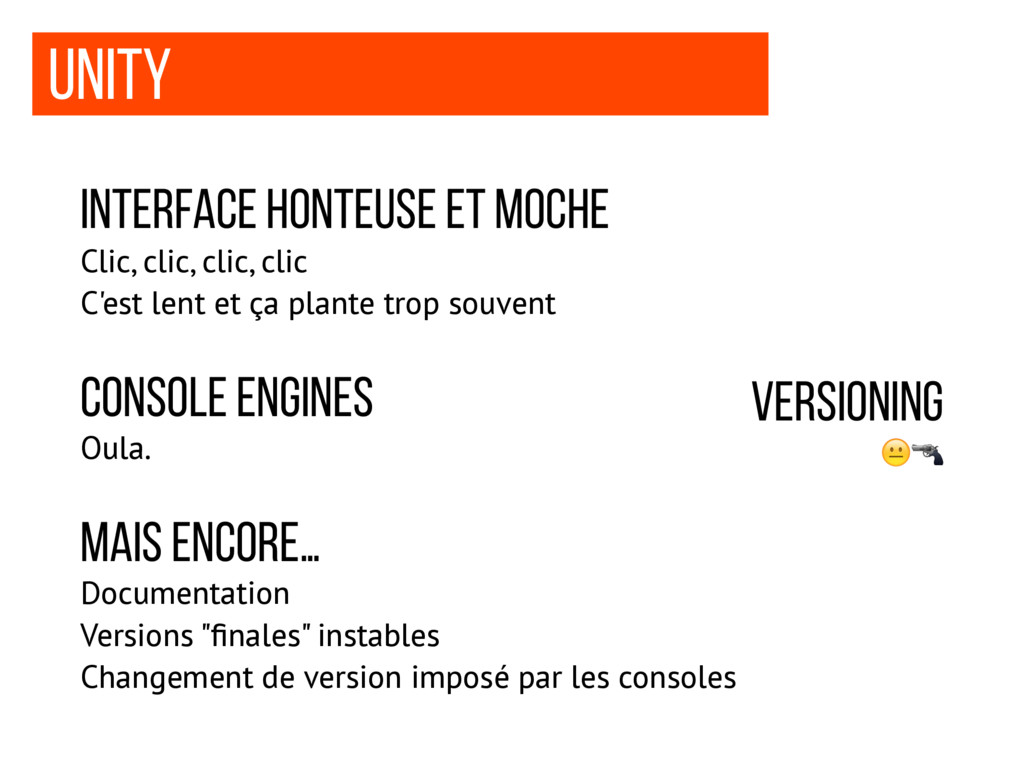 Unity interface honteuse et moche Clic, clic, c...