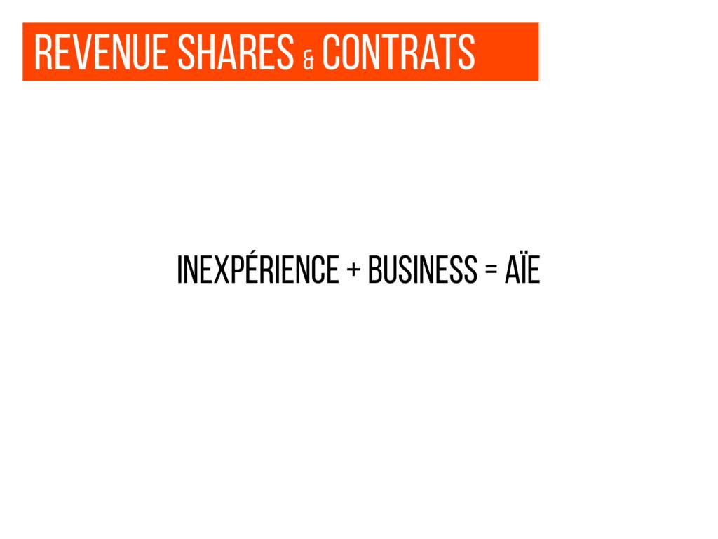Revenue shares & contrats inexpérience + busine...