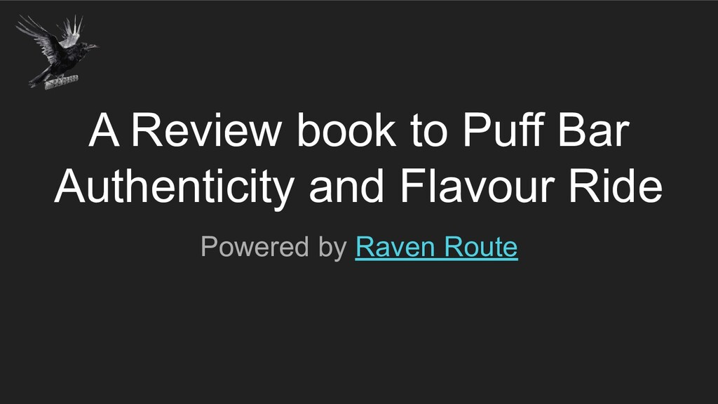 A Review book to Puff Bar Authenticity and Flav...