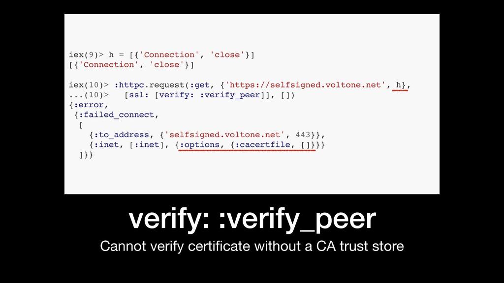 verify: :verify_peer Cannot verify certificate w...