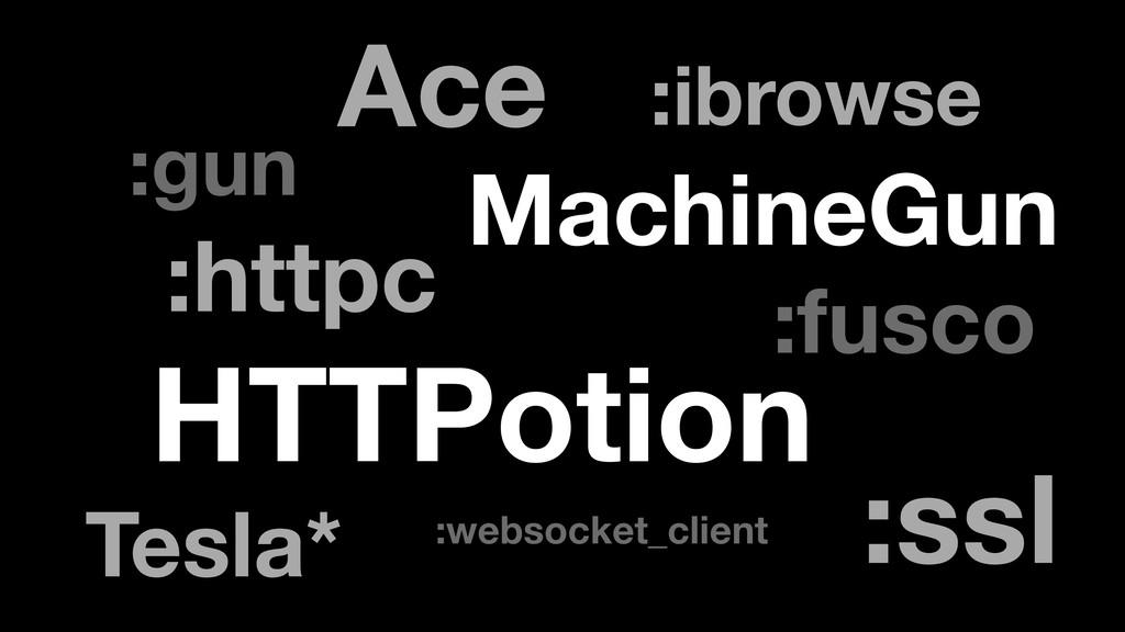:httpc :ssl HTTPotion :ibrowse :gun :fusco Mach...