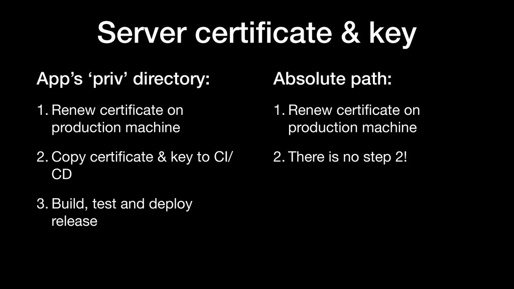 Absolute path: 1. Renew certificate on productio...