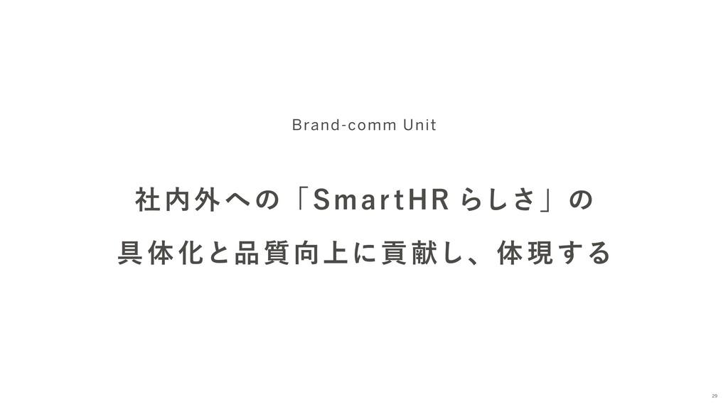 社内外への「Smar tHR らしさ」の 具体化と品質向上に貢献し、体現する Brand-co...