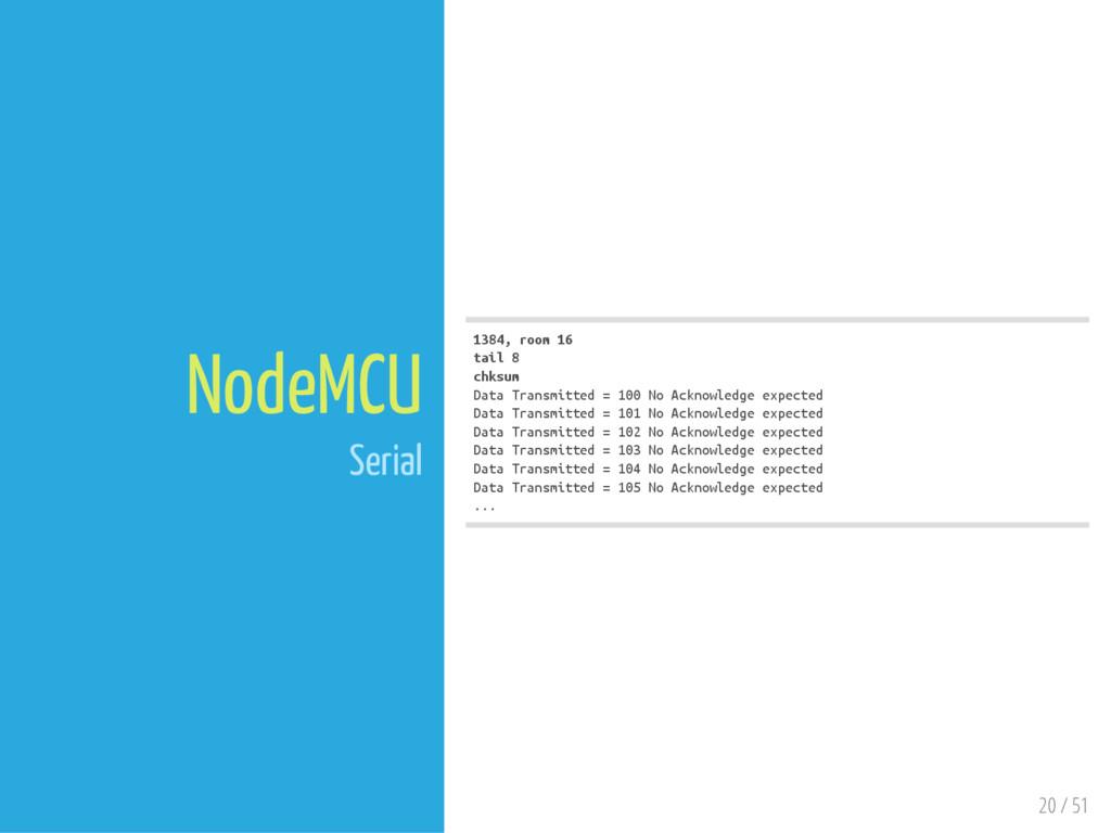 20 / 51 NodeMCU Serial 1384, room 16 tail 8 chk...