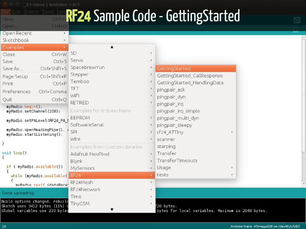 RF24 Sample Code - GettingStarted 24 / 51