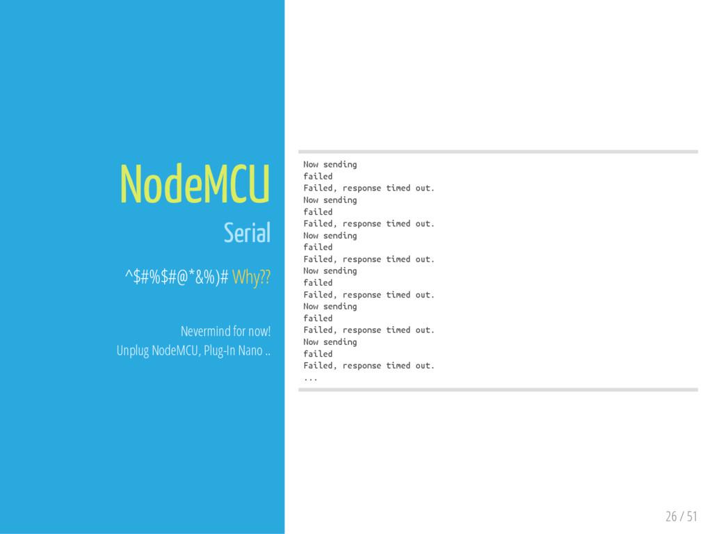 26 / 51 NodeMCU Serial ^$#%$#@*&%)# Why?? Never...