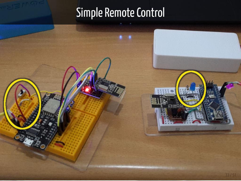 Simple Remote Control 33 / 51
