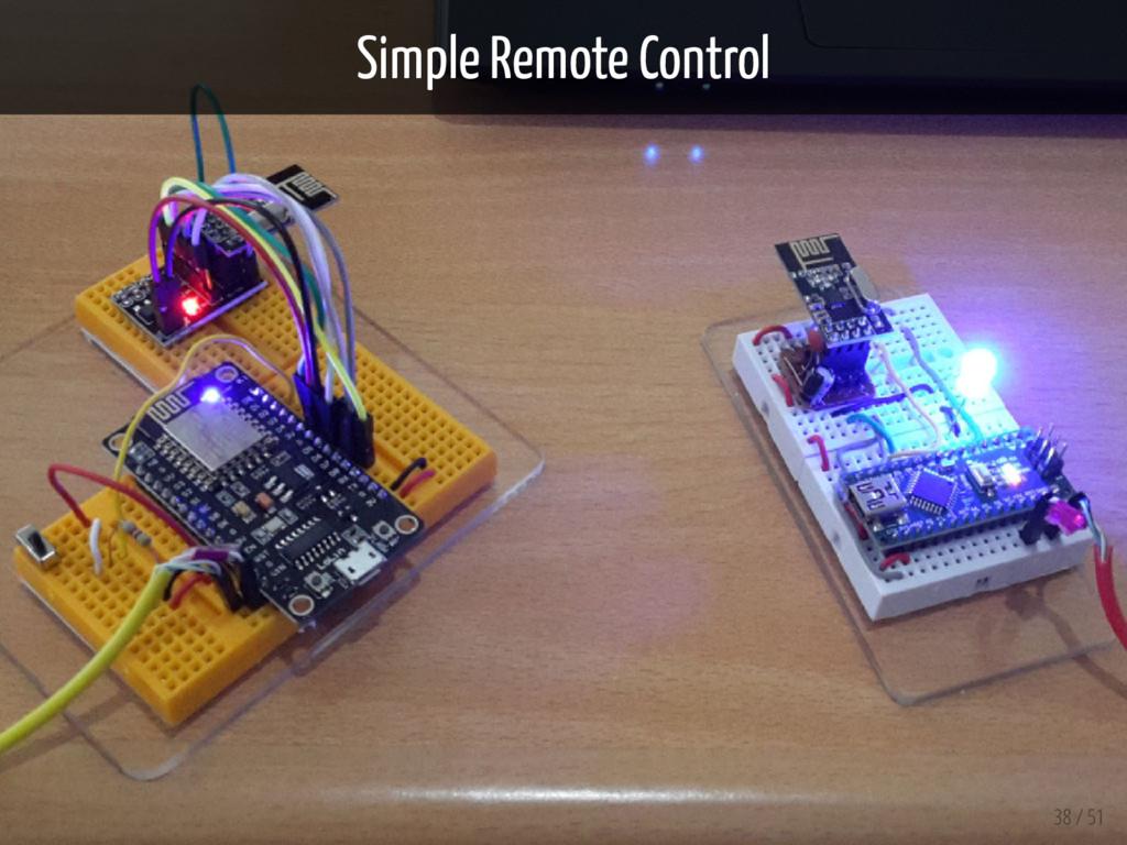 Simple Remote Control 38 / 51