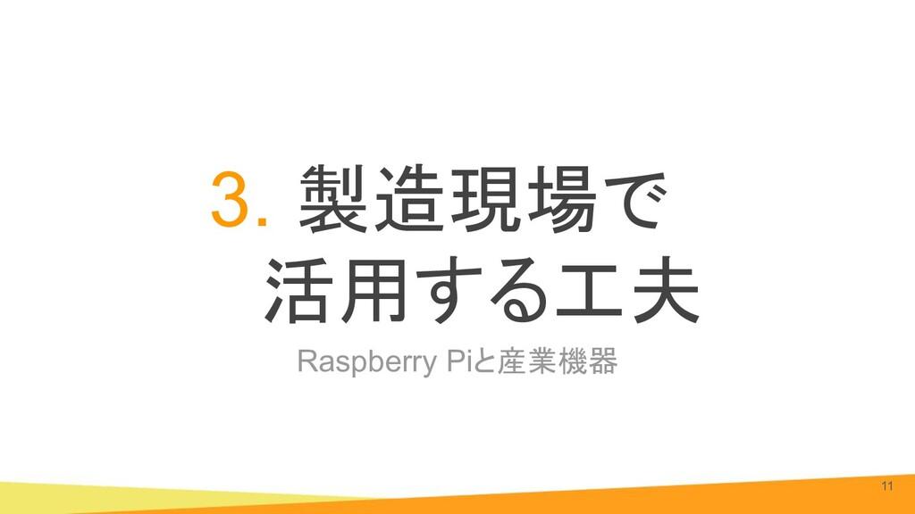 Raspberry Piと産業機器 3. 製造現場で 活用する工夫 11