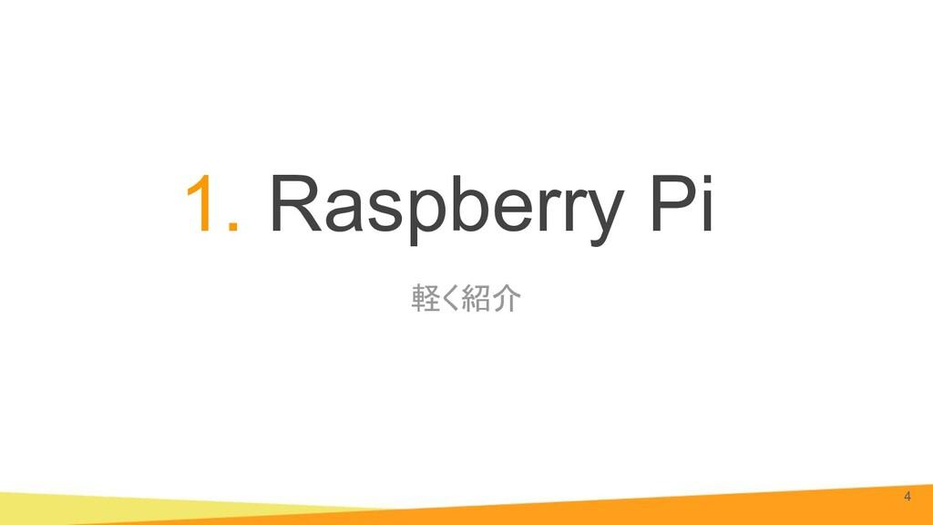 軽く紹介 1. Raspberry Pi 4
