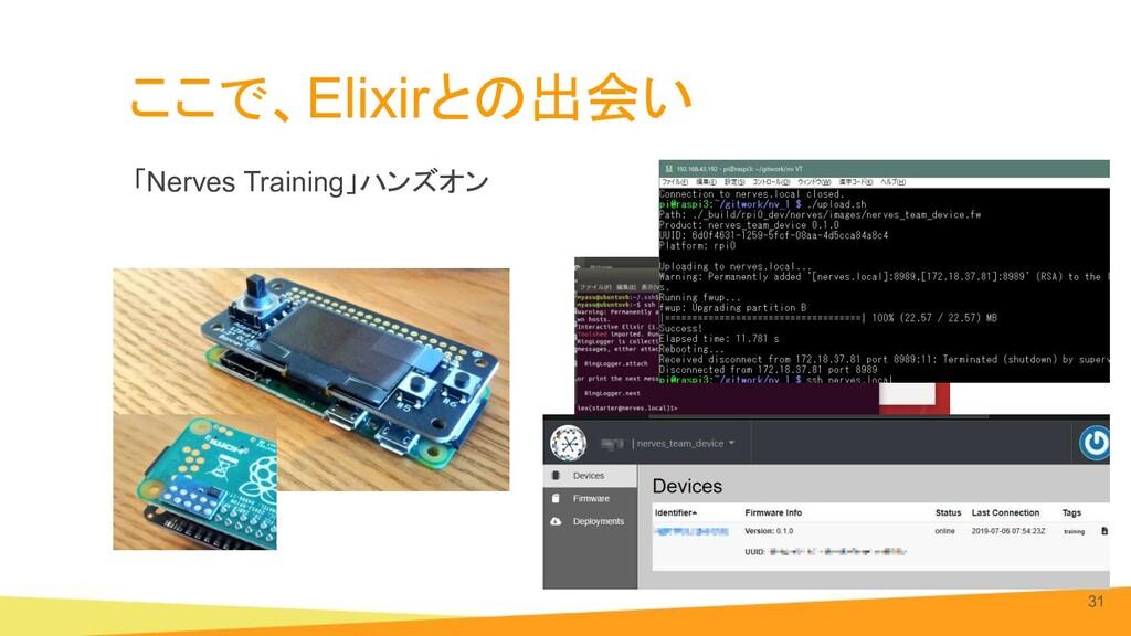ここで、Elixirとの出会い 「Nerves Training」ハンズオン 31