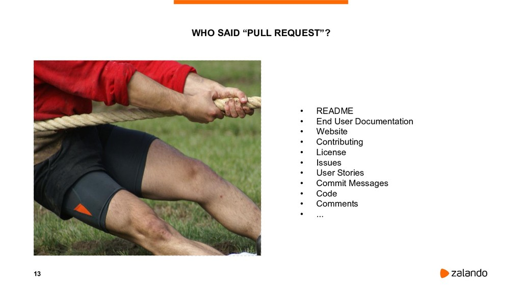 """13 WHO SAID """"PULL REQUEST""""? • README • End User..."""