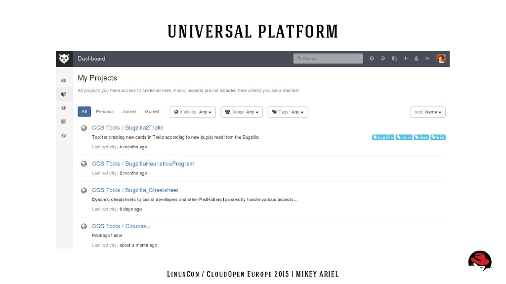 LinuxCon / CloudOpen Europe 2015 | MIKEY ARIEL ...