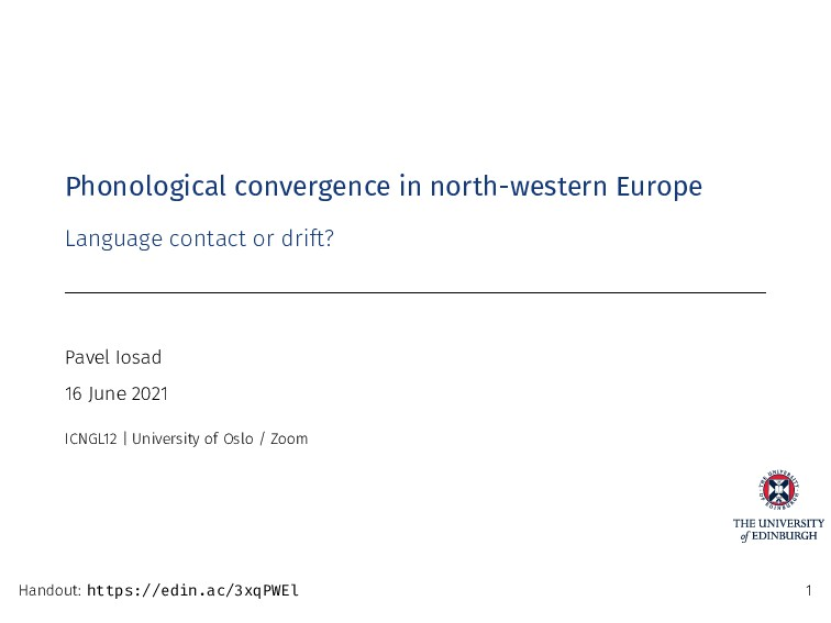 Phonological convergence in north-western Europ...