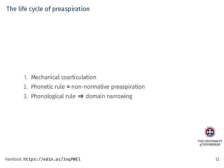 The life cycle of preaspiration 1. Mechanical c...