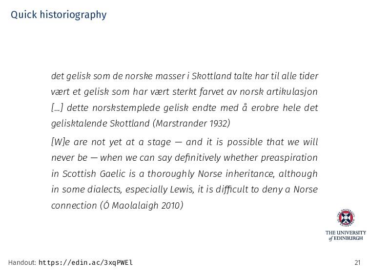 Quick historiography det gelisk som de norske m...