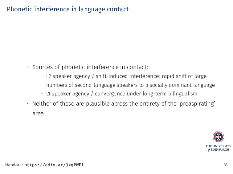 Phonetic interference in language contact • Sou...