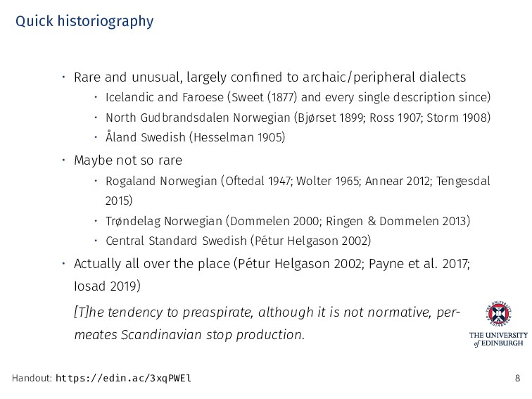 Quick historiography • Rare and unusual, largel...