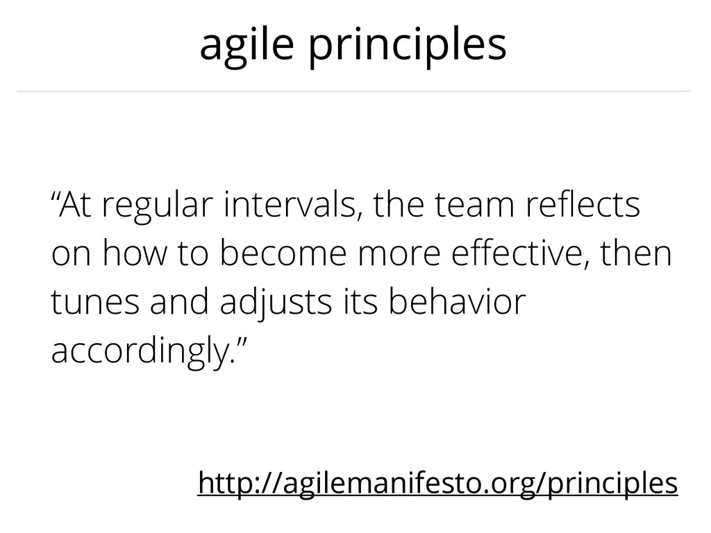 "agile principles ""At regular intervals, the tea..."