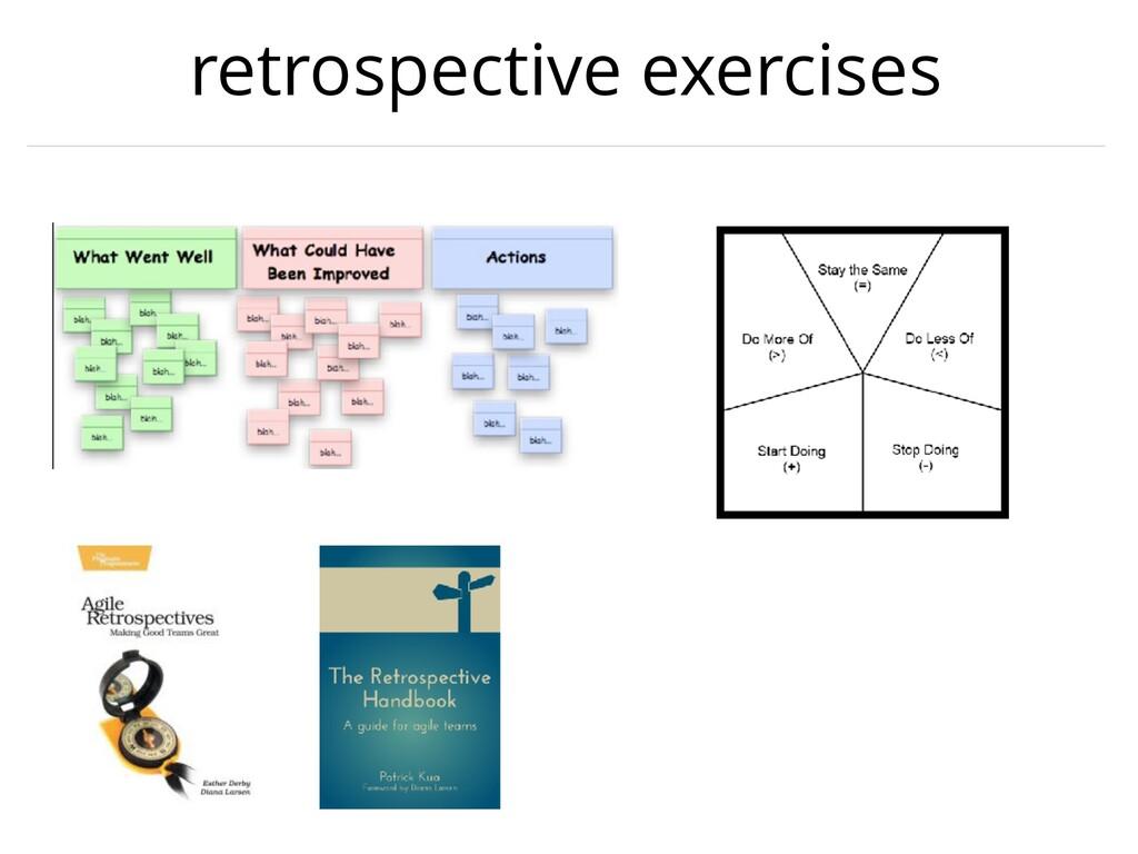 retrospective exercises