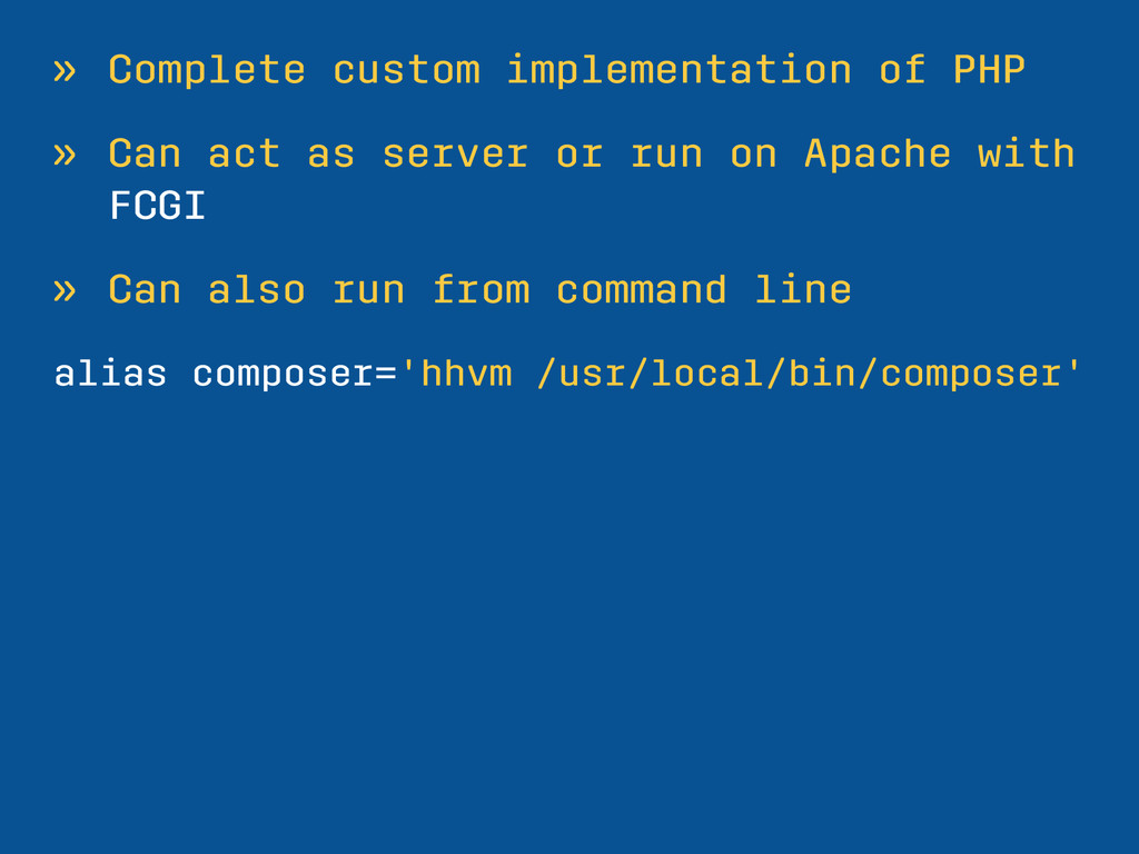 » Complete custom implementation of PHP » Can a...