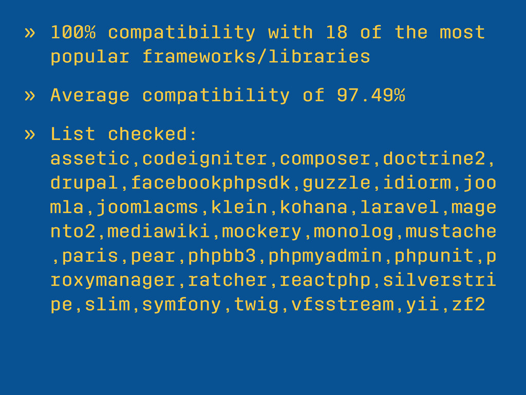 » 100% compatibility with 18 of the most popula...