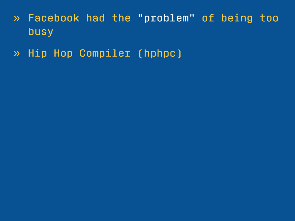 "» Facebook had the ""problem"" of being too busy ..."