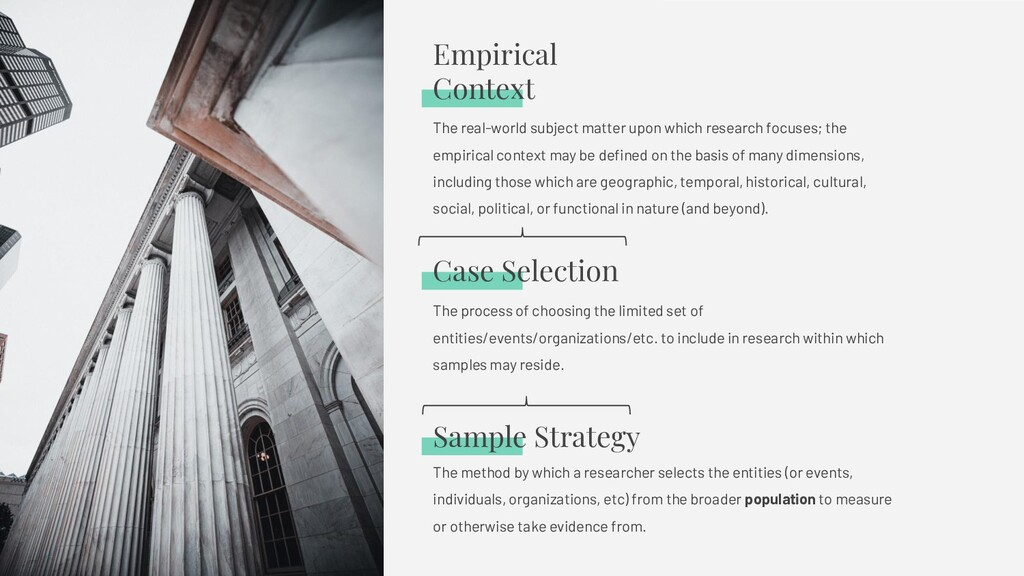 Sample Strategy The method by which a researche...