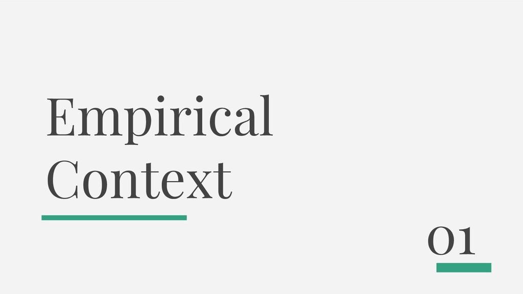 Empirical Context 01