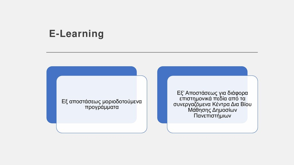 E-Learning Εξ αποστάσεως μοριοδοτούμενα προγράμ...