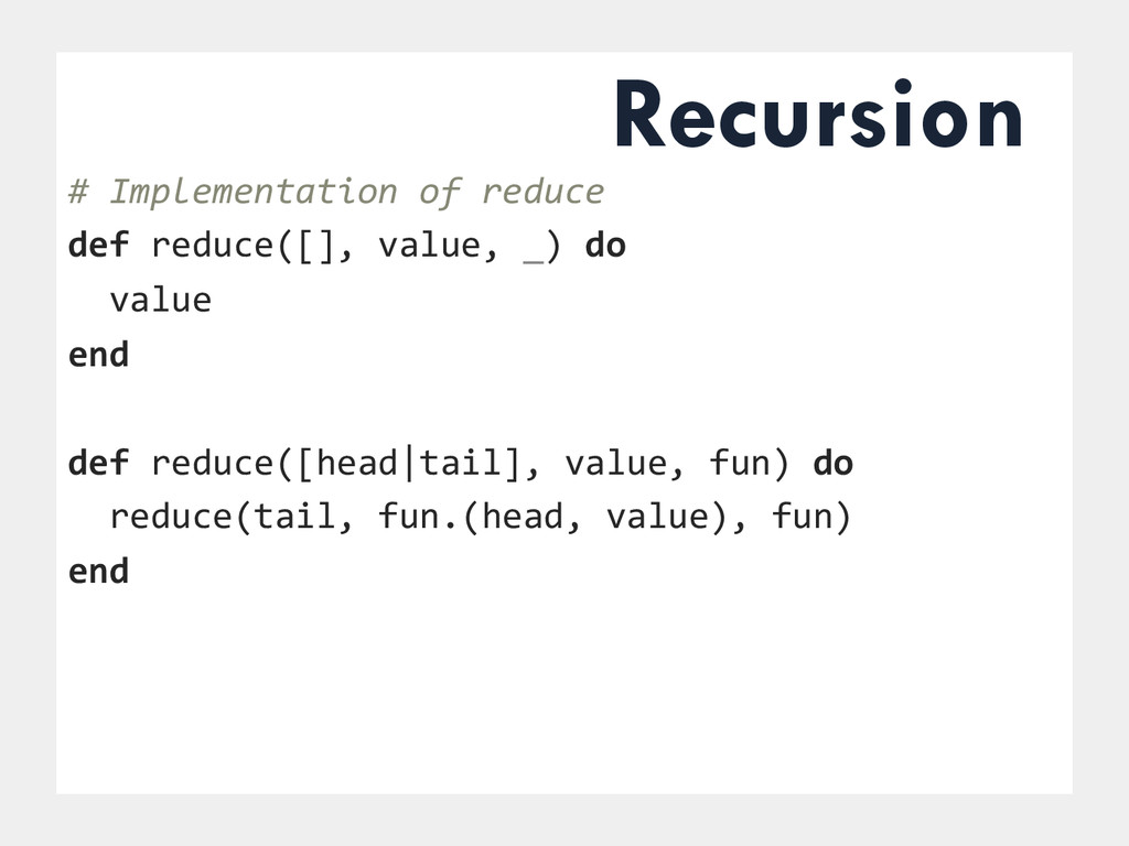# Implementation of reduce...