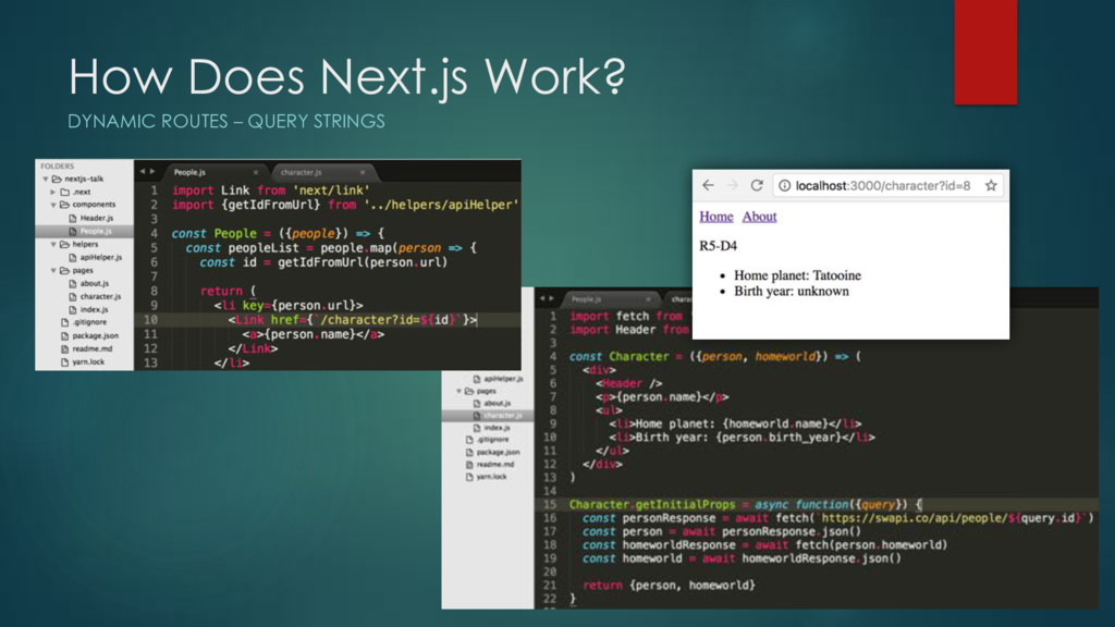 How Does Next.js Work? DYNAMIC ROUTES – QUERY S...