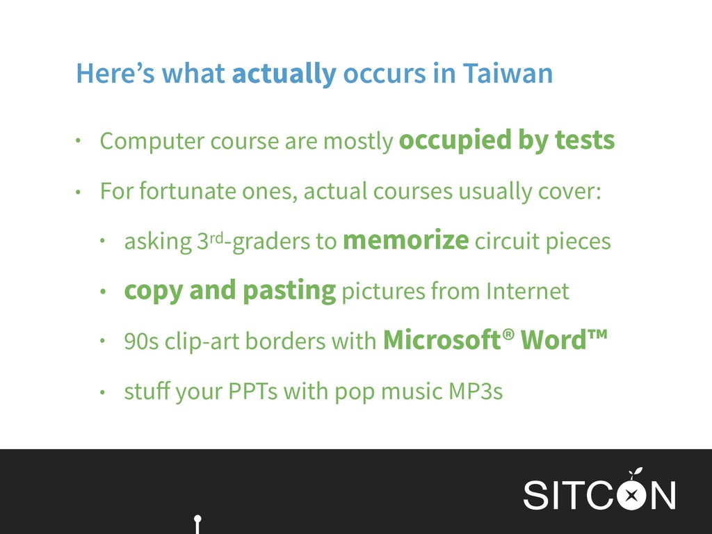 Here's what actually occurs in Taiwan • Compute...
