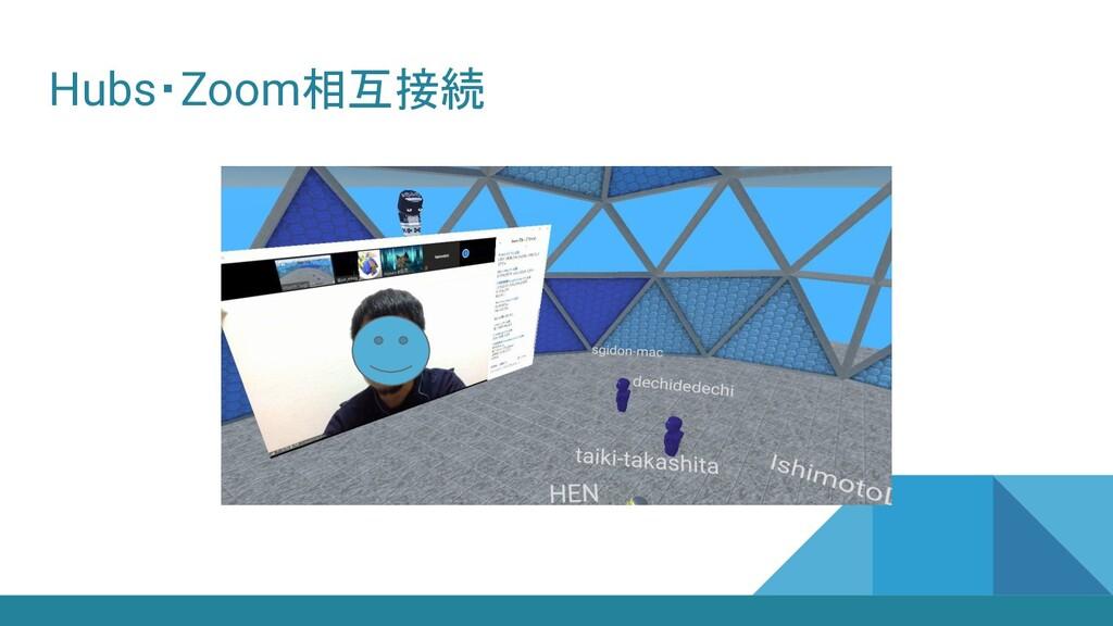 Hubs・Zoom相互接続